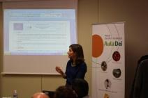 Sara Remón  (PCTAD) revisa las acciones técnicas