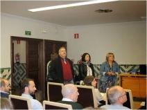 Jesús Val (Director de EEAD-CSIC), Susana Martínez (Directora de PCTAD) y Rosa Oria (Coordinadora Life ZR) en el acto de apertura.