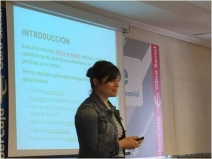 Eva Campo, en su presentación sobre metodologías de análisis sensorial.
