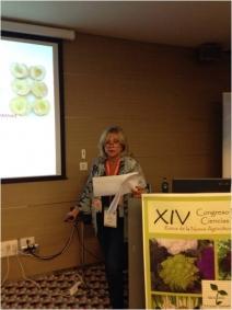 Rosa Oria durante la presentación de los trabajos realizados en el marco del Proyecto Life ZR