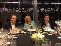 Durante la Cena de Gala junto con Martín Martínez (BASF) y el Dr. Lorenzo Burgos (CBAS-CSIC, Murcia)