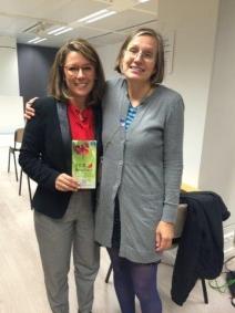 Kathy Franco y Dorte Pardo (Desk Officer de DG ENV, responsable del departamento de Medio Ambiente del programa LIFE+)