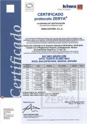 FRUCA renueva su certificación ZERYA